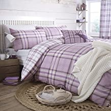 Catherine Lansfield Kelso Cotton Bed Linen Set, Double Size, Lilac, French-Style by Catherine Lansfield