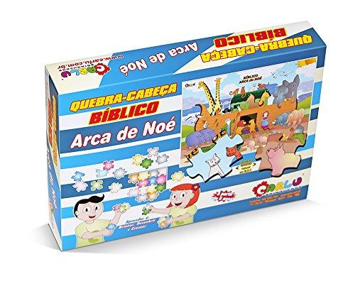 Quebra-Cabeça Bíblico Arca de Noé Carlu Brinquedos
