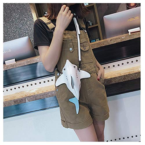 Sac Mignon Bandoulière À De Zwzh Simulation Main Blanc Féroce À Cross Couleur 3d Diagonal Animal Sac Creative Femme Stéréo Cartoon Sac Blanc Requin t6wUq