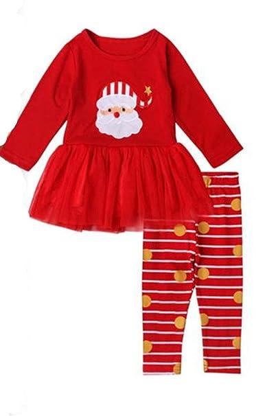 bd54ff3a5a5da8 Baby bekleidung❤️JYJM❤️Weihnachten Kostüm Kinderkleidung Baby Jungen  Mädchen Sweatshirt Streifen Langarm Top + Hosen Set Kindermode Kinder (6  Monate - 4 ...