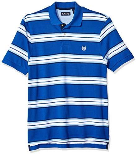 Chaps - Polo de Malla de algodón para Hombre - Azul - XX-Large ...
