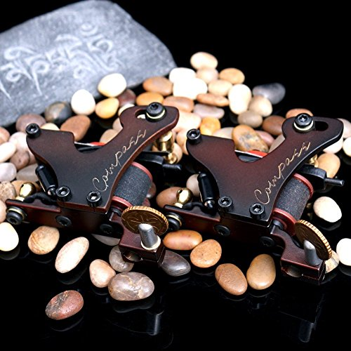 2 PCS Compass Tattoo Machine Plymouth Liner Hoorn Shader Iron