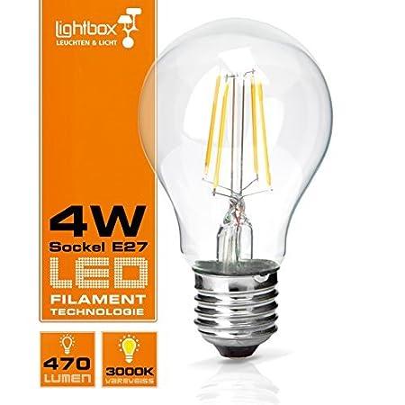 Led 4 W E27 470 Lumen Bulb Replaces 40 W Bulb 3000 K Warm White