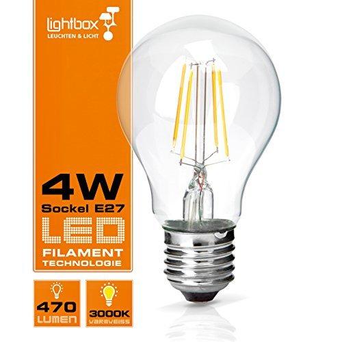 E27 LED 4 W lámpara, 470 lumens (equivalente a 40 W bombilla),
