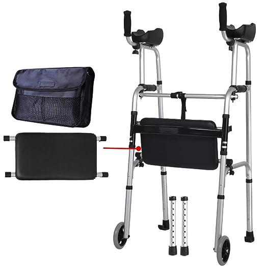 SXD Walk Ancianos, Andador Plegable Andador, Andador de Ruedas con ...
