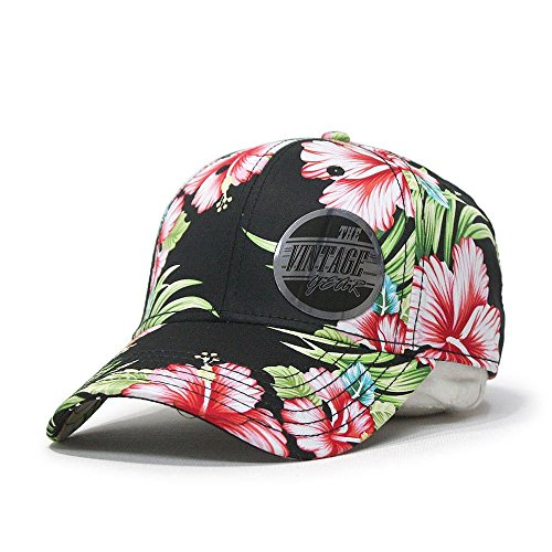 Premium Floral Hawaiian Cotton Twill Adjustable Snapback Baseball Caps (Hawaiian)