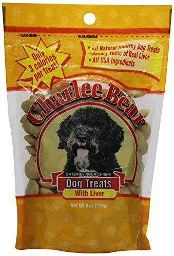 Charlee Bear Dog Treats Liver 6oz (3 Pack) (Charlee Bear Dog Liver Treats)