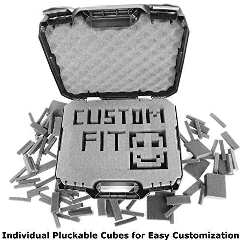 CASEMATIX FPV Drone Quadcopter Travel Case Bag With Customizable Foam - Fits Eachine Racer 250 FPV Drone W/ Props On , Batteries , Propellers , Frame Arms , Receivers and More Compact Accessories