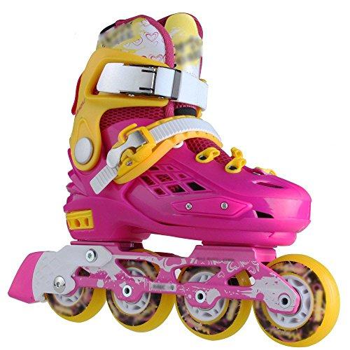 確立現実的に応じてdsfghe Skates子供3 – 10 Years Old Men and Women Professional SkatingスケートフラットSkates Inline Skates M ブルー 07230
