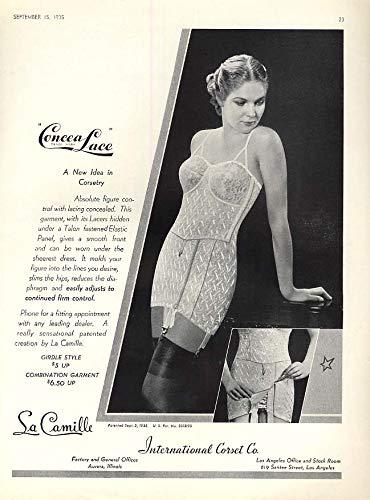 Girdle Line (A New Idea long-line girdle ad 1935 VOG)