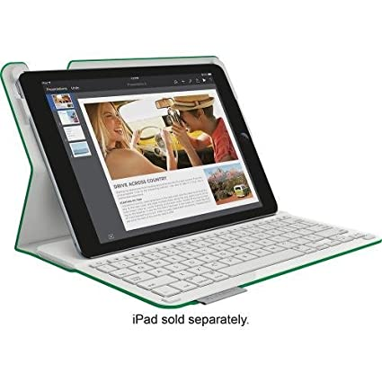 size 40 a7c65 5b94e Logitech Type+ Bluetooth Keyboard Case for iPad Air 2 - Bright Green