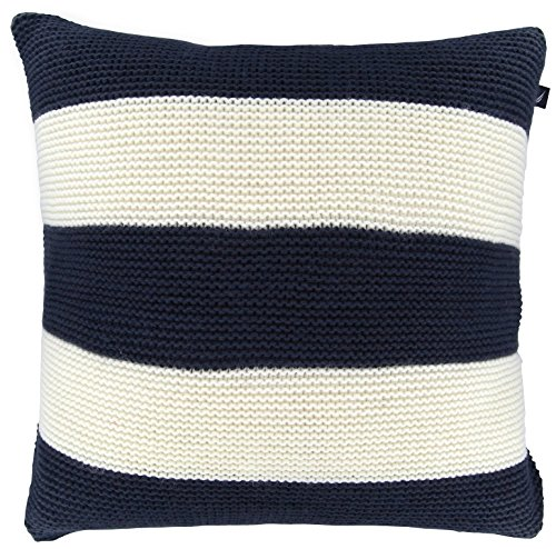 Nautica Crew White Striped Knit Decorative Pillow, 18