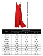 GlorySunshine Women Wrap V-Neck Strap Sleeveless Split Side Evening Dress Long Evening Gown Upgrade