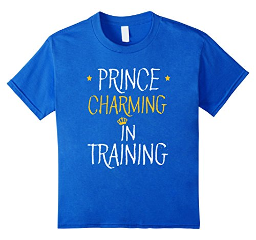Kids FUNNY PRINCE CHARMING IN TRAINING T-SHIRT Halloween Costume 8 Royal Blue (Prince Charming Costume For Kids)