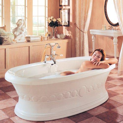Neptune ulysse oval freestanding mass air bath tub for Best soaker tub for the money