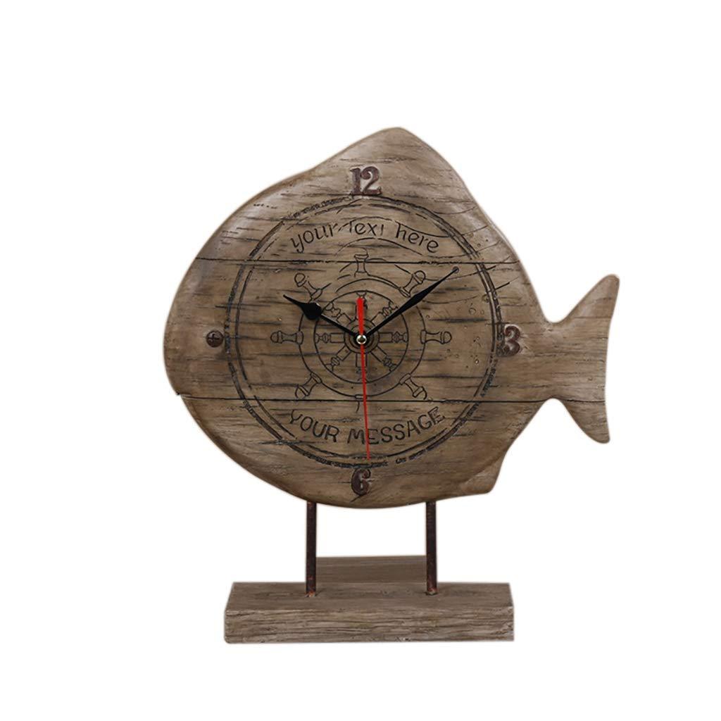 デスククロックファミリークロックヴィンテージ時計、ヨーロッパのクリエイティブスタイルのベッドサイドクロック、サイレントファッションアート時計、リビングルーム/ベッドルームに最適リビングルームに最適 B07THRR9G8 Wood Color