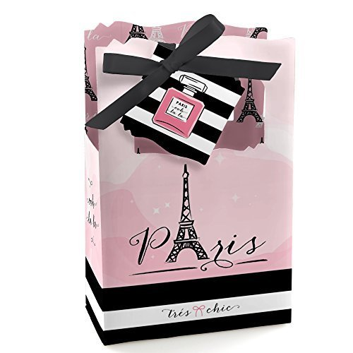 (Paris, Ooh La La - Paris Themed Baby Shower or Birthday Party Favor Boxes - Set of 12)
