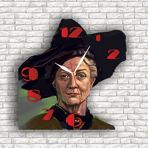 Professor Minerva Mcgonagall Costume (Harry Potter - Minerva McGonagall 11.8'' Handmade Wall Clock - Get unique décor for home or office – Best gift ideas for kids, friends, parents and your soul mates)