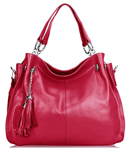 SAIERLONG Womens European And American Style Rose Red Cowhide Messenger bag handbag shoulder bag - Christian Dior Designer Purse