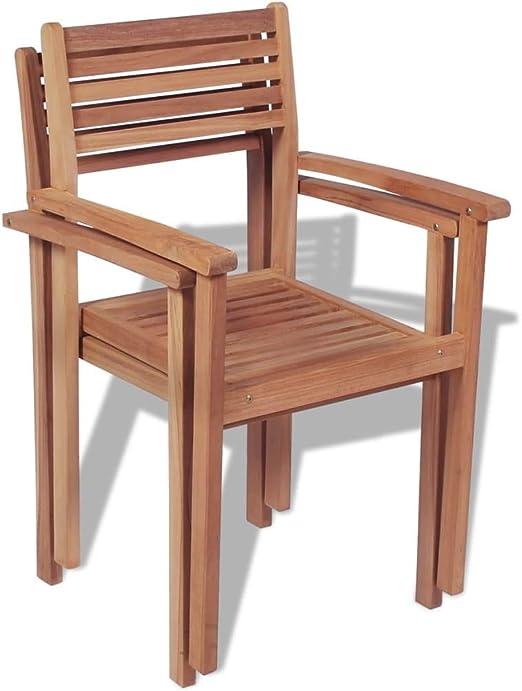 Xingshuoonline Lot de 2 chaises de Jardin empilables Chaise ...
