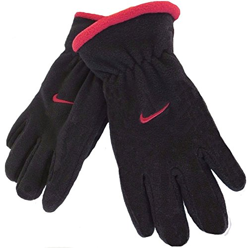 Nike Boy's Youth Fleece Gloves - Size: 8-20, Red