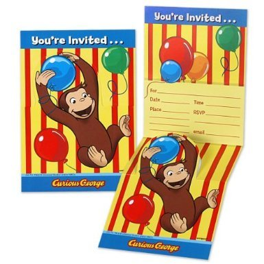 Curious George Invitations -