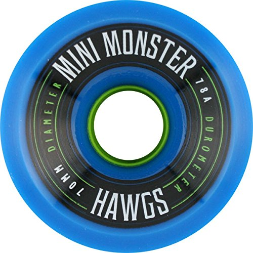 Ruedas de skateboard Hawgs Wheels Mini Monster Blue - 70 mm 78a (juego de 4)