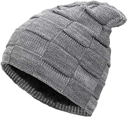 663926a85ec Fantastic Zone Winter Beanie Hat for Men and Women Warm Knit Hats Slouchy  Thick Skull Cap