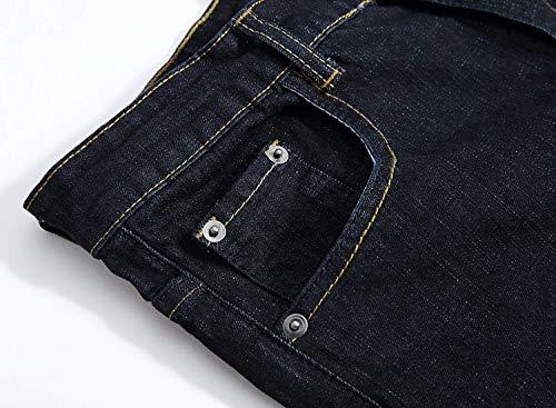 Metà Casuali Giovane Della Etero Dei Vita Uomini Ssige Moda Piedino Vintage Stretch Diritti Del Pantaloni Blueblack Jeans Di 5Bnp7xqW