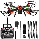 , Review of DAS X4 Venom Large RC Quadcopter Drone with HD Camera, GoPro Mount, Altitude Hold, Headless Mode, One-Key Return, 2.4GHz 4 CH 6 Axis Gyro with Extra Battery