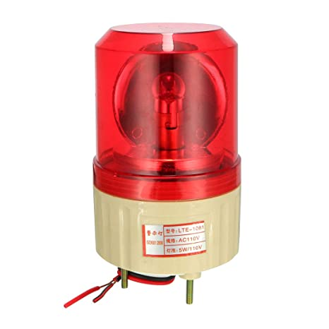 uxcell AC 110V Industrial Alarm System Rotating Warning Light Lamp Red
