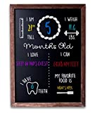 Baby Monthly Milestone Chalkboard Sign | New Mom | New Baby | First Year Board Progress | Baby Photo Prop Chalkboard | Baby Shower Gift | Baby Growth Chalkboard