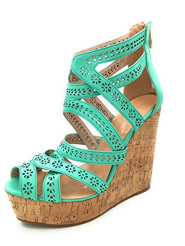 Cuckoo Womens Shoes Fashion Wedges Open Toe Sandals Strap...