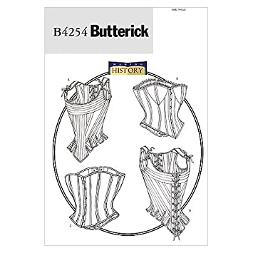 Butterick Patterns B4254 - Patrón e instrucciones para coser corpiños y corsés (de XL a XXL), color blanco: Amazon.es: Hogar