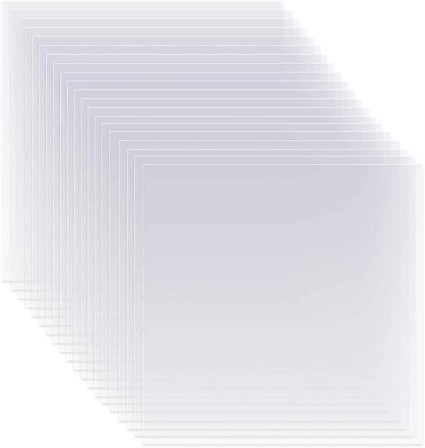 20 St/ück 6 mil 30,5 x 30,5 cm blanko Schablonen transparent Material Mylar Schablonen Bl/ätter f/ür Schablonen