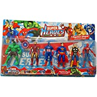 Super heroes figurine collection set