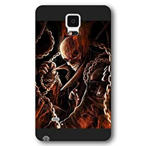 UniqueBox Customized Marvel Series Case for Samsung Galaxy Note 4, Marvel Comic Hero Ghost Rider Samsung Galaxy Note 4 Case, Only Fit for Samsung Galaxy Note 4 (Black Frosted Case)
