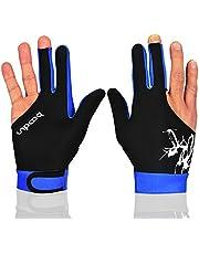 MIFULGOO Man Vrouw Elastische 3 Vingers Show Handschoenen voor Biljart Shooters Carambole Pool Snooker Cue Sport - Draag aan de rechter- of linkerhand
