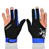 Man Woman Elastic 3 Fingers Gloves for Billiard