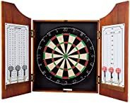 TG 15-91008 Beveled Wood Dart Cabinet-Pro Style Board and Darts