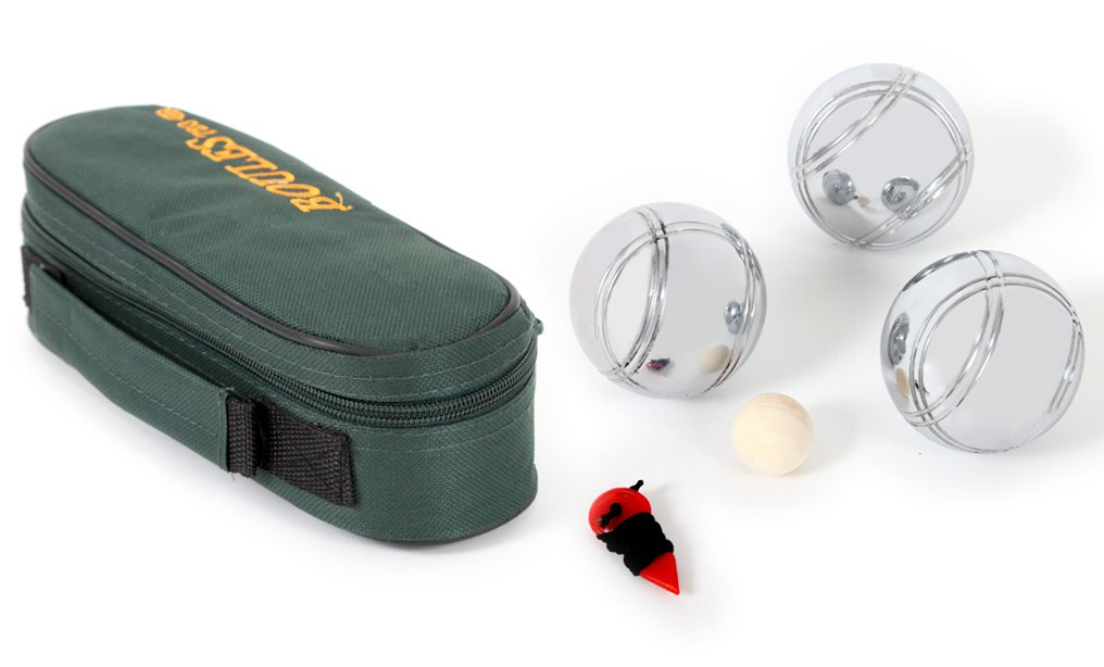 Mgm - 040021 - Sac Zip - 3 Boules 720 G Avec Un Cochonnet Et Un Mesureur product image