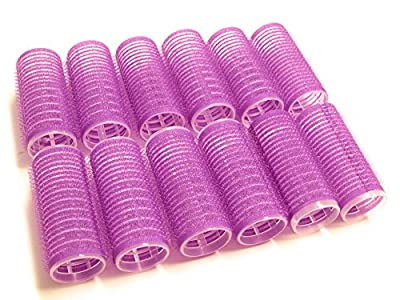 "UrbHome Small Hair Rollers, Self Grip, Salon Hairdressing Curlers""12 Pack"""