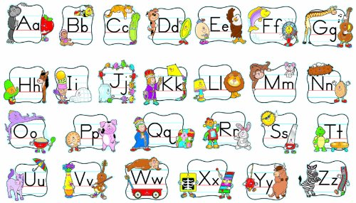 Carson Dellosa Alphabet: Traditional Manuscript Bulletin Board Set (110037)