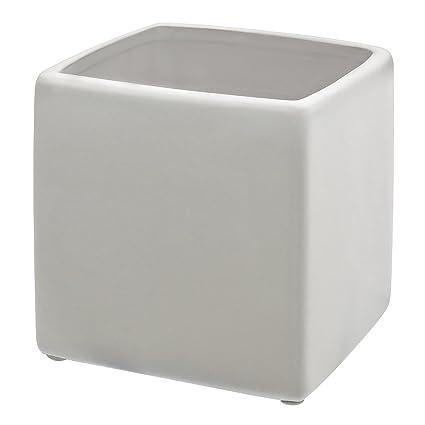 Amazon White Ceramic Square Vase 4 H X 4 W X 4 Lhome Decor