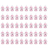 50PCS Candy Bottle Party Gifts Baby Shower Bottle Gadgets Party Favors Baby Feeding Bottle Design for Baby Girl Boy(Pink)