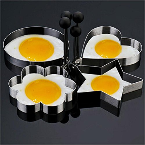 SanCanSn Kitchen Tools, 4PC Thick Stainless Steel Omelette M