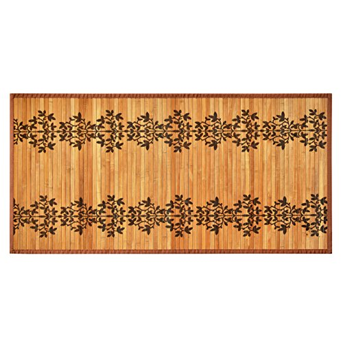 gbHome GH-6770A 100% Natural Bamboo Floor Mat with Anti-Skid Back, Beautiful and Durable Bamboo Carpet Area Rug Floor Runner, Size 24 x 48 inches (61x122 cm)
