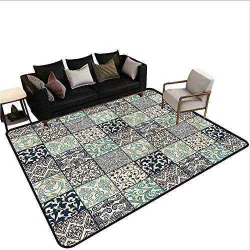 Patchwork,Anti-Slip Cooking Kitchen Carpets 36