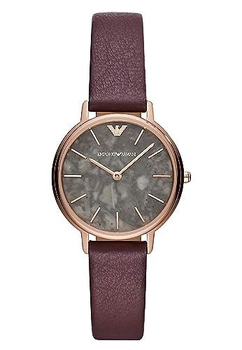 Emporio Armani Reloj Analógico para Mujer de Cuarzo con Correa en Cuero AR11172: Amazon.es: Relojes