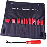 Aulley 12pcs Auto Trim Door Panel Window Molding Upholstery Fastener Clip Removal Tool Kit